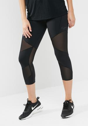 Nike Fly LX Crop Tights Bottoms Black