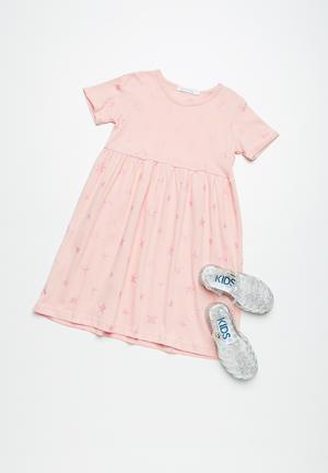 Dailyfriday Star T-shirt Dress Pink