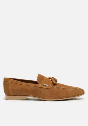 Anton Fabi Servero Suede Slip-ons And Loafers Tan