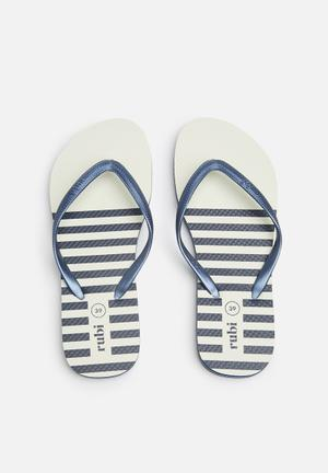 Cotton On Rubi Thong Sandals & Flip Flops Navy & White