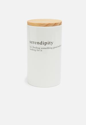 Love Milo Serendipity Canister Kitchen Accessories Porcelain And Sustainable Pine