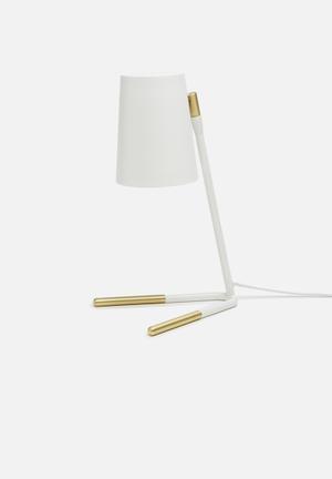 Gold dipped studio lamp