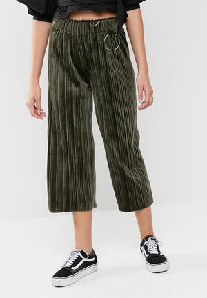 Dailyfriday Velvet Culotte Trousers Green