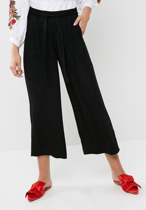 Dailyfriday Black Culotte Pant Trousers Black