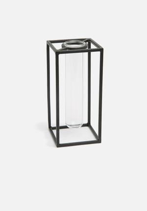 Sixth Floor Romeo Vase Accessories Glass And Iron