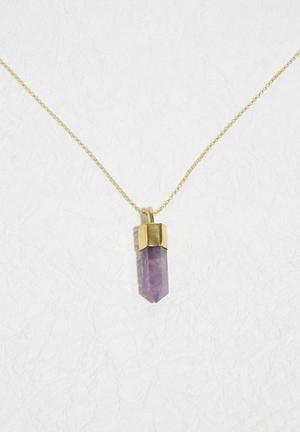 Matter Of Fakt Brass Top Pendant Jewellery Gold