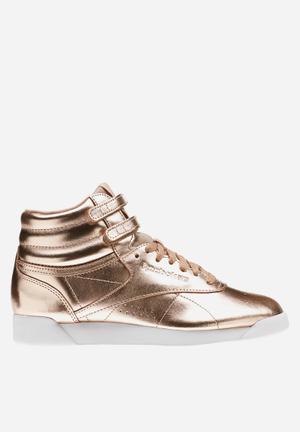 Reebok F/S HI Metallic Sneakers Rose Gold/White/Silver Peony