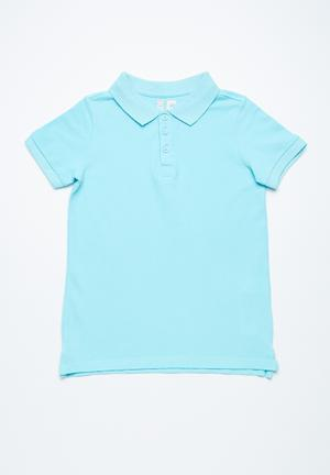 Cotton On Kids Kenny Polo Tops Blue