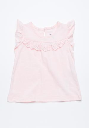 Cotton On Baby Kourtney Flutter Top Pink