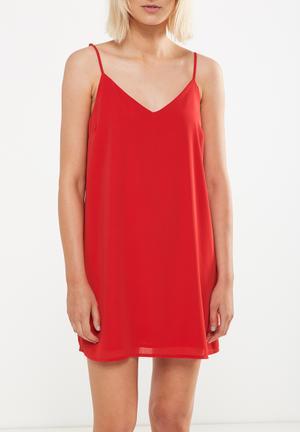 Woven margot slip dress