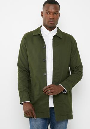 Only & Sons Jacob Trench Coat Green