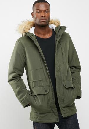 Only & Sons Eskil Parka Jacket Green