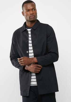 Only & Sons Jacob Trench Coat Navy