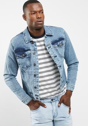 Only & Sons Camp Denim Jacket Blue