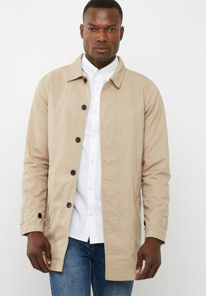 Only & Sons Jacob Trench Coat Beige
