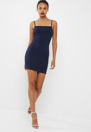 Short square neck bodycon dress