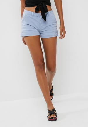 Cotton On The Slant Chino Shorts Blue