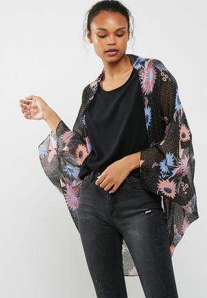 Cotton On Trixy Kimono Jackets Black, Blue, Maroon & Peach
