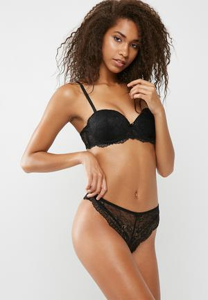 Dailyfriday Brazillian Lace Briefs Panties Black