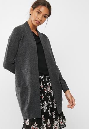 Dailyfriday Wool Blend Coatigan Knitwear Grey