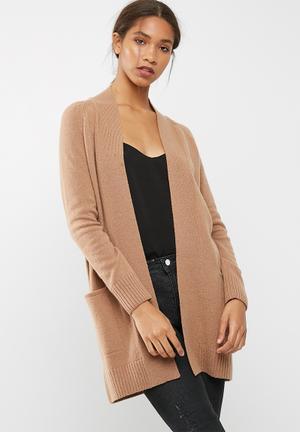 Dailyfriday Wool Blend Coatigan Knitwear Biege