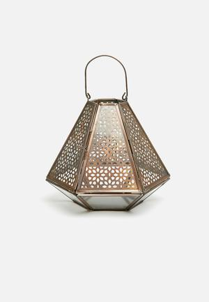 Geo metal lantern