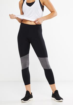 Mid rise laser spliced 7/8 tights