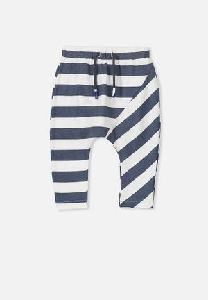 Cotton On Baby Frankie Pant Blue & White