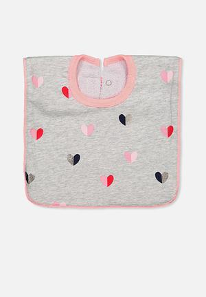 Cotton On Baby Hansel And Gretel Babies Bib Accessories Pink, Grey,Black & Red