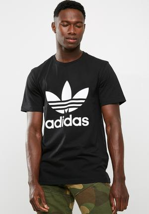 Adidas Originals Trefoil Tee T-Shirts Black & White