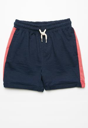 Cotton On Kids Henry Slouch Short Navy & Dusty Red