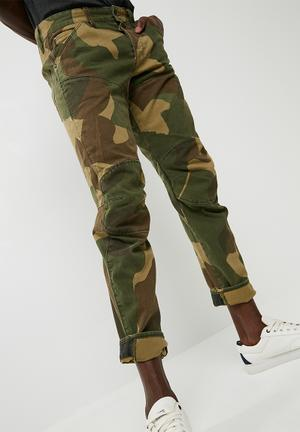 G-Star RAW 5620 3D Tapered Pants & Chinos Green & Brown