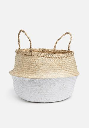 Belly basket two tone white