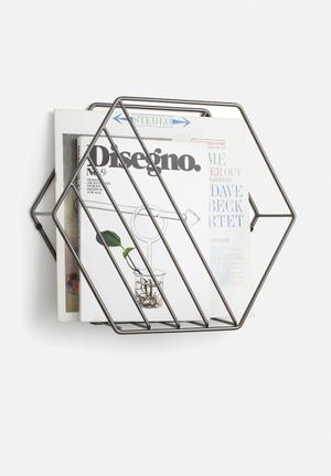 Umbra Zina Magazine Rack Accessories Metal Wire With Titanium Finish