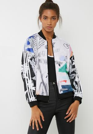 Adidas Originals Oversized Track Top Hoodies, Sweats & Jackets White, Pink, Green, Blue, Black & Purple