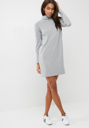Noisy May City Dress Casual Grey Melange