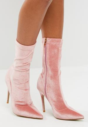 Public Desire Direct Point Toe Ankle Boot Pink