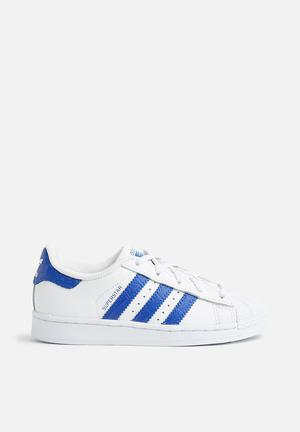 Adidas Originals Kids Superstar C Shoes White & Blue