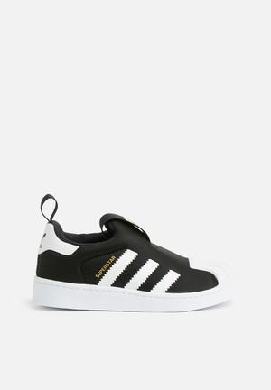 Adidas Originals Kids Superstar C Shoes Black & White