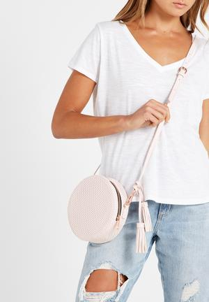 Typo Round Cross Body Bag Pink