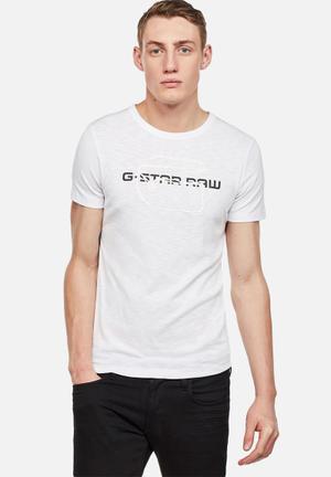 G-Star RAW Tars Tee T-Shirts & Vests White