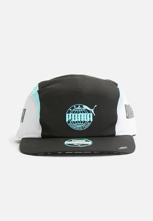 PUMA Diamond Retro Cap Headwear Black, White & Blue