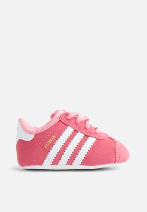 Adidas Originals Infant Gazelle Crib Shoes Chalk Pink/White/White