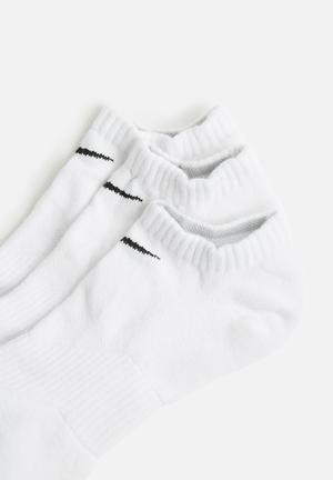 Nike No Show 3 Pack Socks White