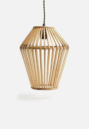Sixth Floor Wooden Pendant Lighting Bamboo