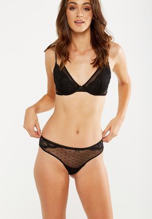 Cotton On Lauren Brasiliano Panties Black
