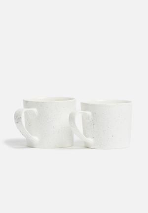 Urchin Art Mug Set Ceramic