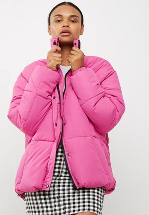 Missguided Ultimate Oversized Padded Jacket Pink