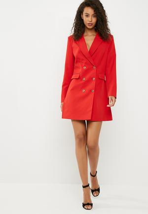 Dailyfriday Blazer Dress Formal Red