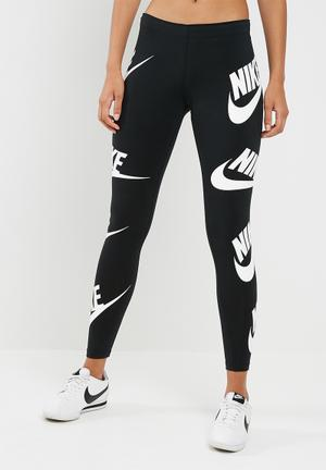 Nike Leg A See Leggings Bottoms Black & White